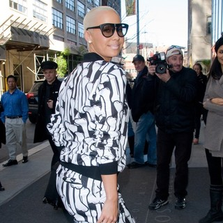Amber Rose in Amber Rose Leaves Her Manhattan Hotel
