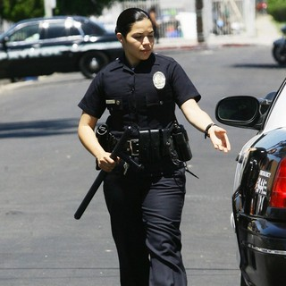America Ferrera in On Location of End of Watch