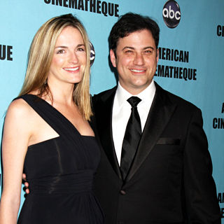 Molly McNearney, Jimmy Kimmel in The American Cinematheque 24th Annual Award Presentation to Matt Damon - Arrivals