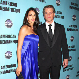 Luciana Barroso, Matt Damon in The American Cinematheque 24th Annual Award Presentation to Matt Damon - Arrivals