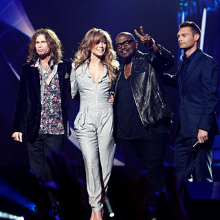 Steven Tyler, Jennifer Lopez, Randy Jackson, Ryan Seacrest in American Idol Reveals New Judges for Season 10