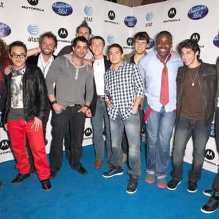 Casey Abrams, Jovany Barreto, Jordan Dorsey, James Durbin, Clint Jun Gamboa, Tim Halperin, Stefano Langone, Brett Loewenstern, Jacob Lusk, Scotty McCreery, Paul McDonald, Robbie Rosen in Idol Prom: The 2011 Debut of The American Idol Top 24 Semi-Finalists