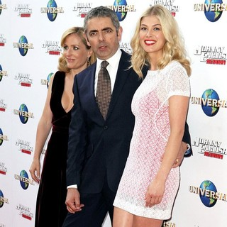 Gillian Anderson, Rowan Atkinson, Rosamund Pike in The World Premiere of Johnny English Reborn