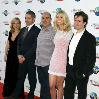 Gillian Anderson, Rowan Atkinson, Oliver Parker, Rosamund Pike, Chris Clark in The World Premiere of Johnny English Reborn