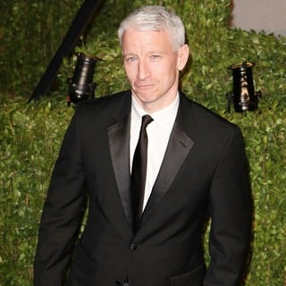 Anderson Cooper in 2011 Vanity Fair Oscar Party