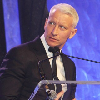 Anderson Cooper in 24th Annual GLAAD Media Awards - Madonna Presents The Vito Russo Award to Anderson Cooper