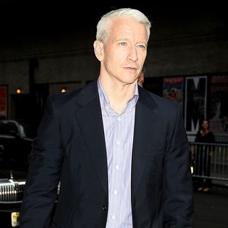 Anderson Cooper in Anderson Cooper at The Late Show with David Letterman