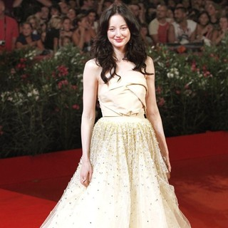 Andrea Riseborough in The 68th Venice Film Festival - Day 2 - W.E. - Red Carpet