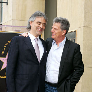 Andrea Bocelli, David Foster in The Hollywood Walk of Fame Star Ceremony for Andrea Bocelli