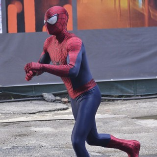 Andrew Garfield in On The Set of The Amazing Spider-Man 2