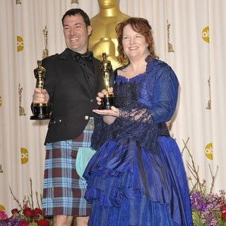 Mark Andrews, Brenda Chapman in The 85th Annual Oscars - Press Room