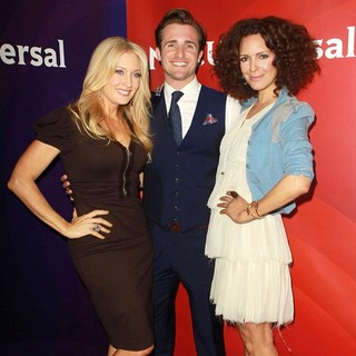 Amber Kelleher-Andrews, Matt Hussey, Tracy McMillan in NBC Universal Press Tour