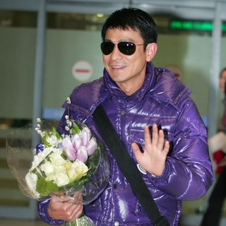 Andy Lau in Andy Lau Arrives at Incheon Airport to Promote Three Kingdoms: Resurrection of The Dragon