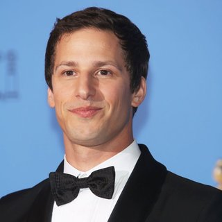 Andy Samberg in 71st Annual Golden Globes - Press Room