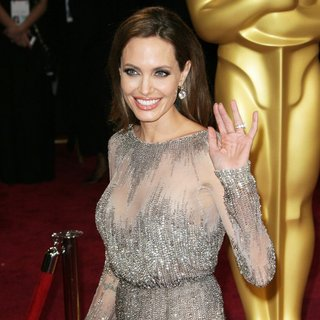 Angelina Jolie in The 86th Annual Oscars - Red Carpet Arrivals