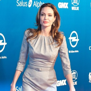 Angelina Jolie in Cinema for Peace Gala During 62nd Annual Berlin International Film Festival