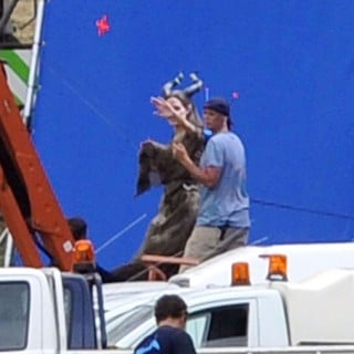 Angelina Jolie in Filming of Disney Movie Maleficent