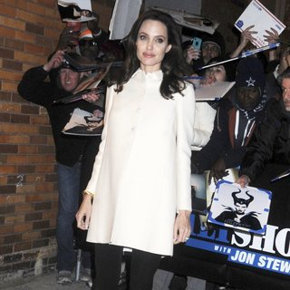 Angelina Jolie Leaving The Daily Show with Jon Stewart