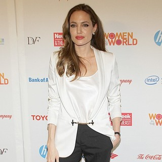 Angelina Jolie in The Third Annual Women in The World: Stories and Solutions Summit