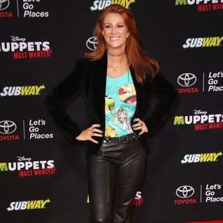 Angie Everhart in Los Angeles Premiere of Disney's Muppets Most Wanted - Red Carpet Arrivals