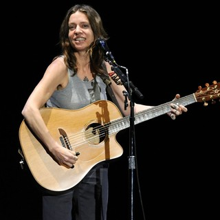 Ani DiFranco Performs on Stage