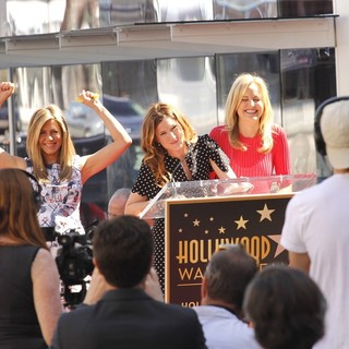 Jennifer Aniston, Kathryn Hahn, Malin Akerman in Jennifer Aniston Is Honored with A Star on The Hollywood Walk of Fame