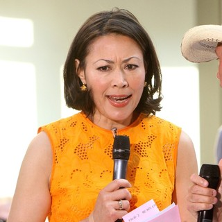 Ann Curry Outside Rockefeller Center for The Today Show's Concert Series