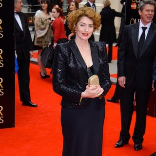 Anna Chancellor in The Olivier Awards 2013 - Arrivals