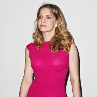 Anna Chlumsky in Mercedes-Benz New York Fashion Week Spring-Summer 2013 - Christian Siriano - Backstage