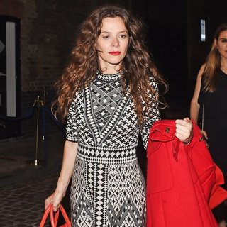 Anna Friel in Anna Friel Seen Leaving The Chiltern Firehouse