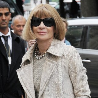 Anna Wintour in Paris Fashion Week Haute Couture Fall-Winter 2014-2015 - Chanel - Outside Arrivals