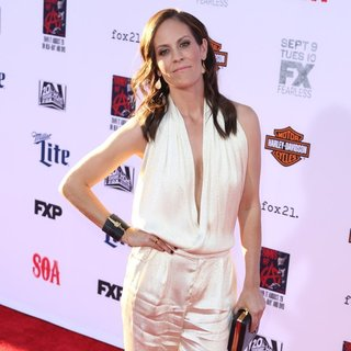 Annabeth Gish in FX's Sons of Anarchy Premiere Season 7 - Arrivals