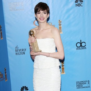 Anne Hathaway in 70th Annual Golden Globe Awards - Press Room