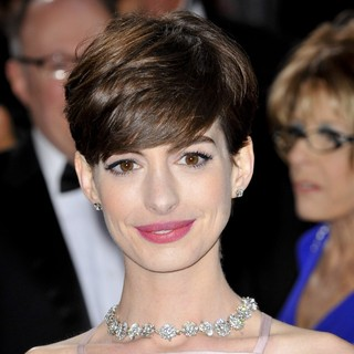 Anne Hathaway in The 85th Annual Oscars - Red Carpet Arrivals
