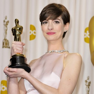 Anne Hathaway - The 85th Annual Oscars - Press Room