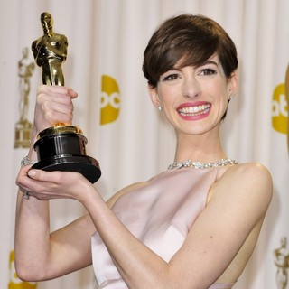 Anne Hathaway in The 85th Annual Oscars - Press Room