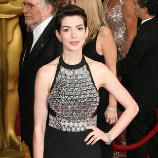 Anne Hathaway in The 86th Annual Oscars - Red Carpet Arrivals