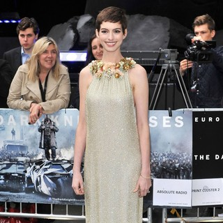 Anne Hathaway in The European Premiere of The Dark Knight Rises - Arrivals