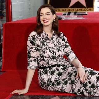 Anne Hathaway Is Awarded A Star on The Hollywood Walk of Fame