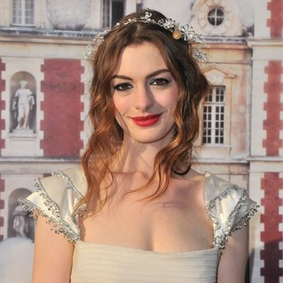 Anne Hathaway in The White Fairy Tale Love Ball - Arrivals