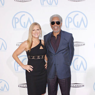 Morgan Freeman, Lori McCreary in The 21st Annual PGA Awards 2010