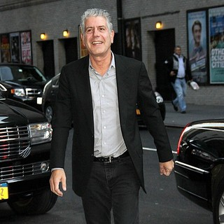 Anthony Bourdain in Anthony Bourdain at The Ed Sullivan Theater for The Late Show with David Letterman