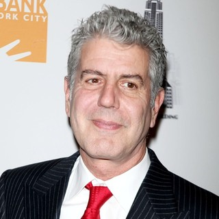 Anthony Bourdain in Mario Batali and Food Bank for NYC Launch The Culinary Council - Arrivals