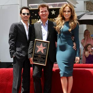 Marc Anthony, Simon Fuller, Jennifer Lopez in Simon Fuller Receives A Star on The Hollywood Walk of Fame