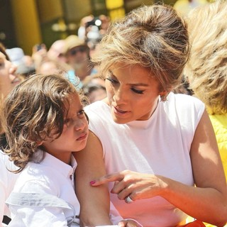 Max Anthony, Jennifer Lopez in Jennifer Lopez Is Honoured with The 2,500th Star on The Hollywood Walk of Fame