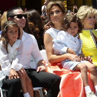 Emme Anthony, Casper Smart, Jennifer Lopez, Max Anthony, Jane Fonda in Jennifer Lopez Is Honoured with The 2,500th Star on The Hollywood Walk of Fame