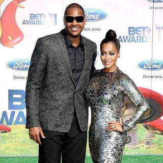 Carmelo Anthony, La La Vazquez in BET Awards 2011