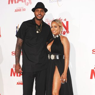 Carmelo Anthony, La La Vazquez in Film Premiere of Think Like a Man Too