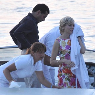 Cas Anvar, Naomi Watts in Filming Caught in Flight
