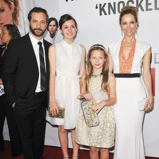 Judd Apatow, Iris Apatow, Maude Apatow, Leslie Mann in This Is 40 - Los Angeles Premiere - Arrivals